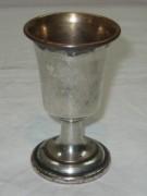 Рюмка старинная, медь, серебрение, Россия 19 век №3467